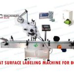 flat surface labeling machine labeling machine for top and bottom of small box