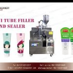 ultrasonic tube filling and sealing machine for cream lotion toothpaste|remplisseur de tube
