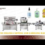 Automatic hand sanitizer bottle filling capping labeling machines with anti-explosion
