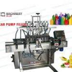 gear pump filling machine with 6 nozzles for hand sanitizer liquid soap|disinfectant filler