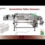 accumulation tables conveyors for 1 gallon jug bottling line turntable