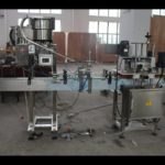 linear pet plastic bottle pressing and capping machine with cap hopper  máquina que capsula