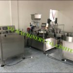 Vial bottling stoppering and capping machine supplier for rotary piston filler plugger capper