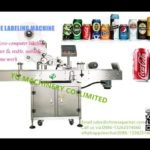 Automatic can tin labeling machine testing video surface barcode label applicators