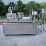 Automatic Filling and Capping Machine line for Syrup filler and capper alcohol fill cap devices
