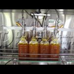 four heads automatic food oil filling machine