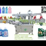 automatic toilet bowl cleanser labeling machine two sides oval bottle label application equipment