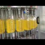 Rotary type 5L oil filling, capping, labeling line from Shanghai Shouda Machinery