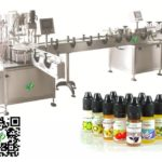60ml chubby bottle filling machine plugging cap screwing adhesive label application machine