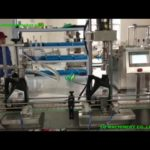 inline 5L oil bottle feeding piston filling and lid screwing machine for  Tanzanian client