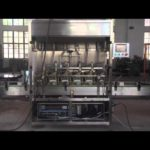 Automatic linear type filling machine with 6 heads for flat bottle motor oil filler with piston pump