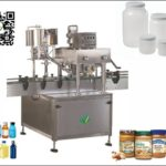 automatic inline cover screwing machine for plastic jar high speed lid capping equipment