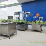 Screen cleaning solution bottling line vials sorting filling plugging capping and labeling machine