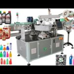 automatic two labels round bottle labeling machine up down wrap around labeler prices