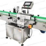 Automatic adhesive label applicator for 10ml small bottles wrap around labeling machine