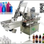 automatic soy bottle inline spindle capping machine belt type edible oil cap presser system