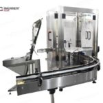 New mode'l Automatic powder dosing filling and lid capping machine for whey protein plant