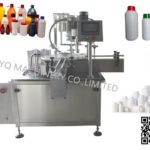 rotary cappers automatic lid tightening machine for plastic glass bottles دستگاه بسته شدن