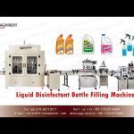 corrosive liquid filling capping and labeling machine|disinfection water filling production line