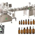 Automatic perfume bottle turntable filler stopper capper buffer and adhesive labeler machines