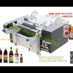 tabletop cold glue labeling machine for metal tin paper label pasting labeller