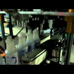 automatic liquid detergent bottle filling production line with 4 heads linear type capping machine