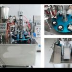 Cream filling and sealing equipment for soft tubes with inner heater filler and sealer machine