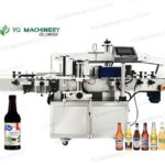 automated pressure sensitive labeler for round glass bottle sticker wrap around labeling machines