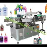 automatic bottle double side self-adhesive labeling machine for round bottles jars labeler