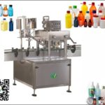 automatic glass bottle capper system inline spindle cappin gmachine with cap sorter