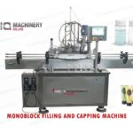 Rotary filling and capping machine for hotel shampoo bath gel monoblock filler