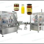 Automatic jar filling production line semi liquid filling and vacuum capping machine manufacturers