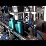 Four nozzles automatic filling and capping machine for engine oil  bottling system