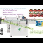 Round can tin paper label pasting machine price wet glue label applicator testing video for Alonso