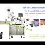 Automatic bag labeling machine with plastic pouch paper card label application machines low price