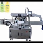 Automatic two side labeling machine for flat bottles labeler front back sided label applicator