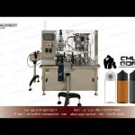 e liquid filler bottle capping and labeling machine YQ machinery 100ml chubby gorilla filling line
