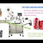Automatic top surface labeling machine for Coca Cola cans sticker flat label applicator