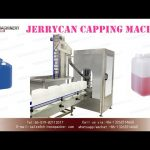 automatic cap screwing machine for jerrycan with cap vibrating bowl|lid cappers