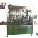 automatic shampoo 4 heads filler lid capping machine for body wash filling system
