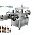 wrap around labeling machine with one label four side labelers for square jars