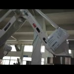 robot hand operation of filling capping labeling machine