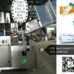 automatic Paste Metal/ALU Tube Filling Sealing Machine with PLC and touch screen control