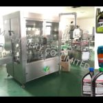 automatic flat bottle 5L lube oil filling machine volumetric diving type 8 heads filler system