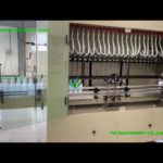 Anti-Corrosion gravity acid bleach filling machine with PLC control 24 Heads Filler