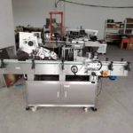 Automatic plane labeling machine with wrap round sticker label application