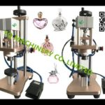 semi automatic perfume glass bottle crimping machine sprayer container capping equipment