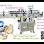 Auto packaging tapes labeling equipment suppliers round container sticker label applicator machine