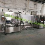 Inline liquid hot filling and Vacuum capping machine supplier for glass jar nest products filler