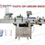 cup labeler with feeding system testing demo
